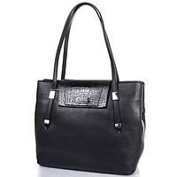 Кожаная классическая  женская сумка DESISAN (ДЕСИСАН) SHI2896-011 Черный