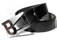 Кожаный ремень BURBERY 115см, (черный) гвоздик