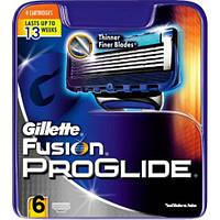 Сменные кассеты Gillette Fusion PROGLIDE 6 шт (Германия, качество протестировано мужчинами нашей компании )