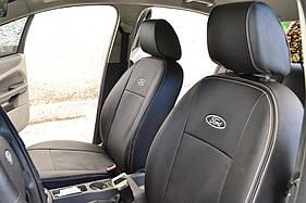 Чехлы модельные с Еко-кожи Nissan Tiida (C11) 2004->