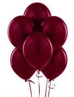 Воздушные шары  латексные, марсала 25 см.