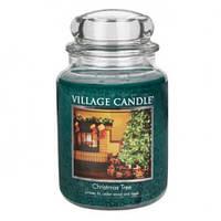 """Ароматическая свеча в стекле Village Candle """"Рождественская елка"""". 740 гр/ 170 часов"""