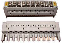 Магазин защиты для 10-ти парного плинта, с комплектом разрядников