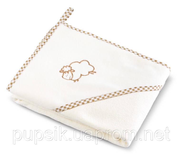 Полотенце с уголком детское Sensillo Sheep  80*80 см
