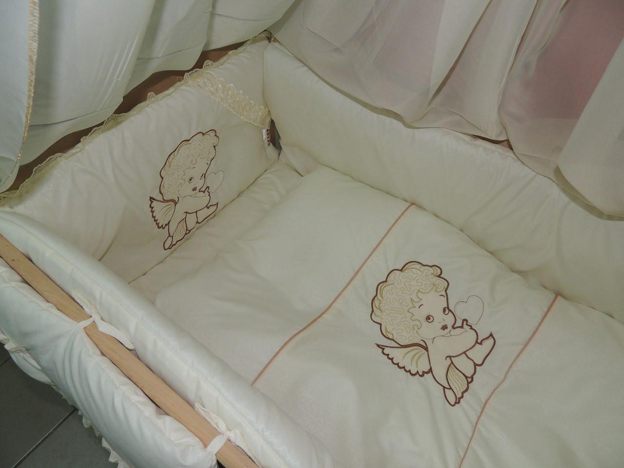 Комплект детского постельного в кроватку Ангелочек Bonna Вышивка