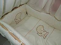 Комплект детского постельного в кроватку Ангелочек Bonna Вышивка, фото 1