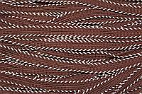 Тесьма-Кант дв. ПЭ 10мм (50м) коричневый (шоколад)+св.бежевый , фото 1