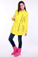Плащ-ветровка для девочки Эльза на рост 140 см, цвет лимонный