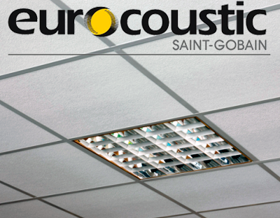 Потолочные панели Ecophon Eurocoustic Alaid 600*600*15мм.