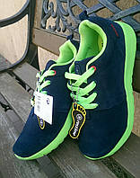 Кроссовки Restime Navy-Green rush run, 39р