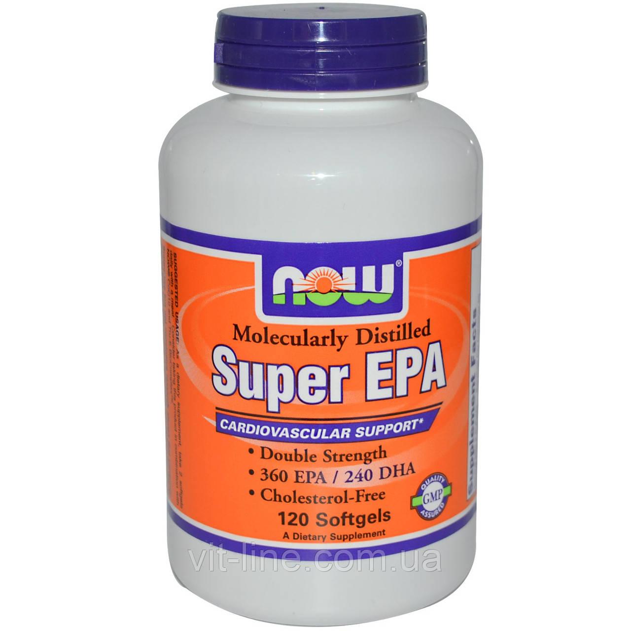 Now Foods, Super EPA, Молекулярно дистиллирован, 120 Капсул