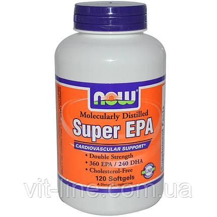 Now Foods, Super EPA, Молекулярно дистиллирован, 120 Капсул, фото 2