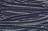 Тесьма-Кант дв. ПЭ 10мм (50м) т.синий+белый , фото 1