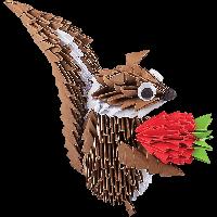 """Модульное оригами Бумагия """"Белка с клубникой"""" 532 модуля ОМ6060"""