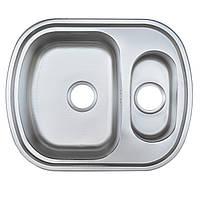 Мойка кухонная Platinum 6349D декор 0,8 мм глубина 18 см