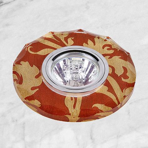 Точечный стеклянный врезной светильник (16-В073), фото 2