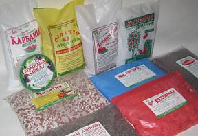 Удобрения минеральные и органические