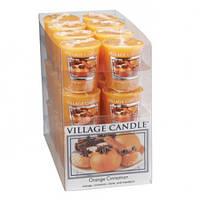 """Ароматическая свеча Village Candle """"Апельсин-Корица"""". 61 гр/ 18 часов"""