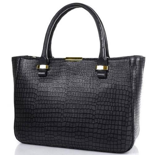 Кожаная качественная  женская сумка DESISAN (ДЕСИСАН) SHI1482-697 Черный