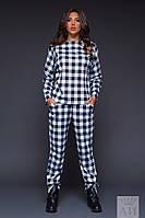 Женский костюм в клетку / фр. трикотаж / Украина, фото 1