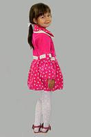 Плащ-ветровка для девочки Бантик на рост 98 см, цвета в ассорт., фото 1