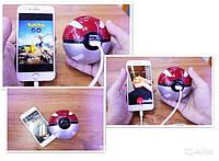 Павербанк Покебол внешний аккумулятор Power Bank (Покешар, Pokeball) 10000 mah для фанатов игры Pokemon Go