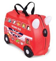 Чемоданчик детский дорожный на колесах  Автобус Bus  Boris