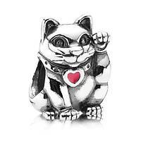 """Шарм бусина Pandora (Пандора) """"Счастливый Кот"""""""