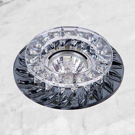 Точечный стеклянный врезной светильник (16-В088), фото 2