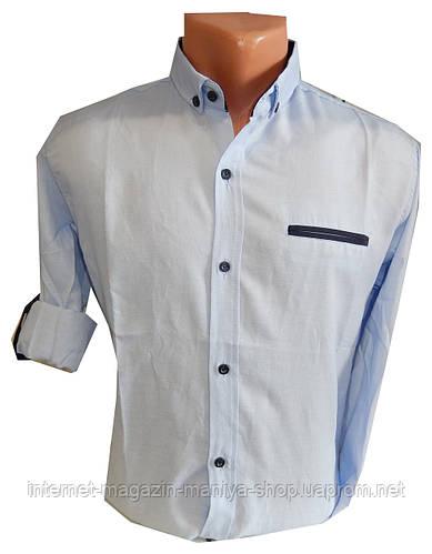 Рубашка мужская трансформер однотонная карман