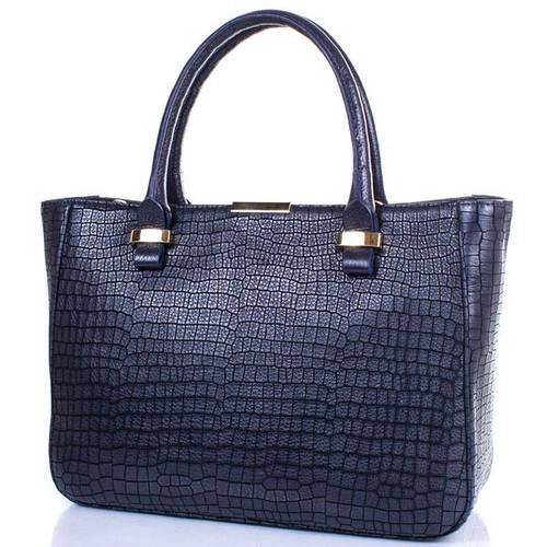 Кожаная качественная  женская сумка DESISAN (ДЕСИСАН) SHI1482-698 Синий