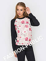 Женский свитшот с цветочным принтом