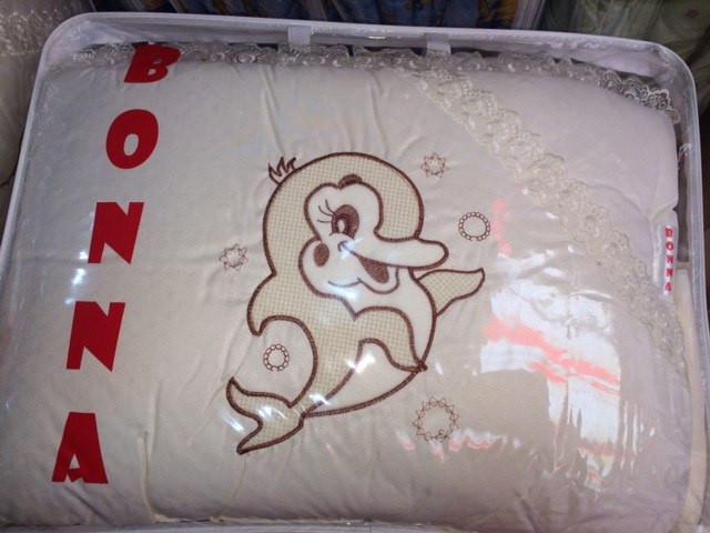 Комплект детского постельного в кроватку Дельфин Bonna Вышивка