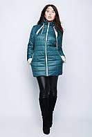 Куртка женская демисезонная удлиненная с декор вставками р.46-56