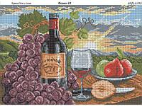 """Схема для вышивки бисером """"Красное вино и груши"""""""