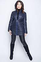 Куртка женская демисезонная удлиненная со съемным капюшоном р.46-56
