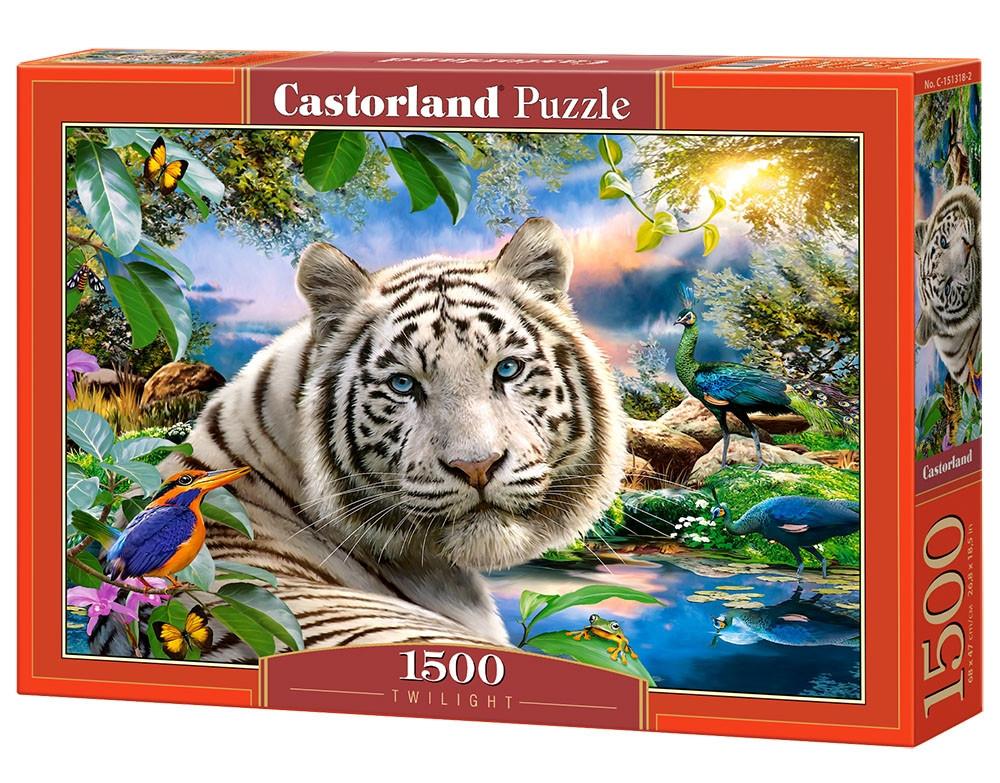 """Пазлы Castorland C-151318 """"Белый тигр"""" на 1500 элементов (C-151318)"""