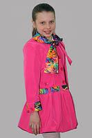 Плащ-ветровка для девочки Лада на рост 140 см, цвета в ассорт.