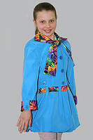 Плащ-ветровка для девочки Лада на рост 128 см, цвета в ассорт.