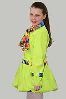 Плащ-ветровка для девочки Лада на рост 152 см, цвета в ассорт.