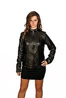 Куртка прямая, темно-коричневая