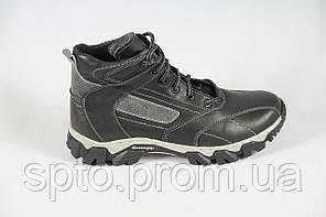 Ботинки мужские утепленные, зимние кожаные кроссовки