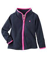 Детский теплый  свитер на молнии Картерс для девочек +микрофлис