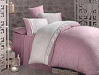 Постельное белье Satin 200*220 Kharma V3 розовый(ТМ CLASY), Турция
