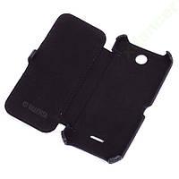 Кожаный чехол-книжка Valenta для Nokia 225 Black