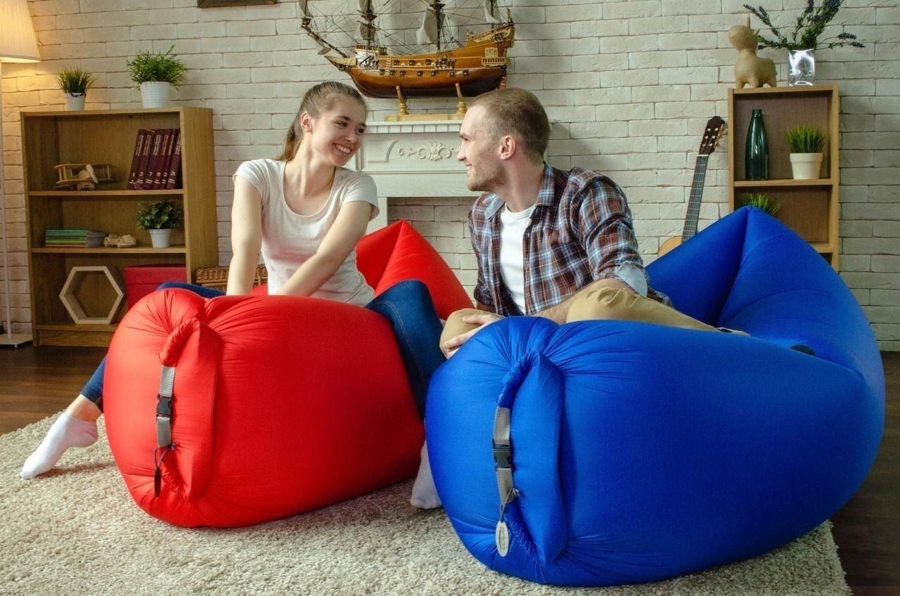 Самонадувной диван - гамак Lamzac Hangout (Кресло Матрас Ламзак Хенгаут Синий) - ДропПартнеры в Киеве