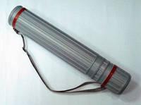 Тубус для чертежей раздвижной D- 10 50-90, серый