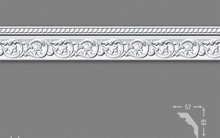 Плинтус потолочный LB 2823 ДОБРА СПРАВА, фото 2