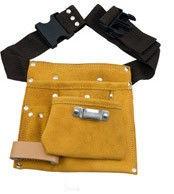 Кожаный пояс для инструментов замшевый ATEX 5 карманов