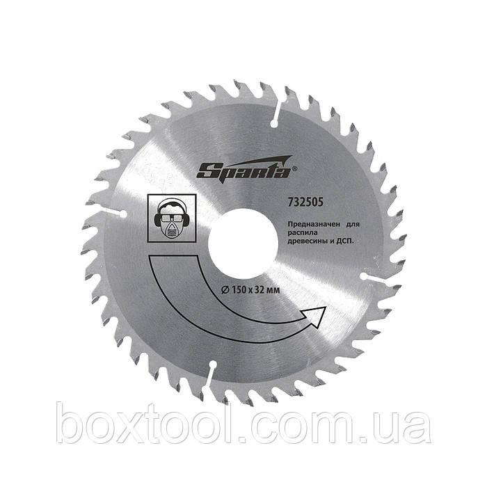 Пильный диск по дереву 180 мм  Sparta 732425